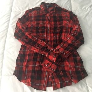 Chaps Petite plaid button down shirt